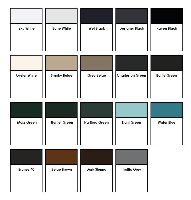 Master Aluminum - Standard Color Options
